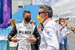 Edoardo Mortara, Venturi Racing, con Alejandro Agag, Presidente de la Fórmula E