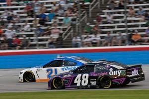 Matt DiBenedetto, Wood Brothers Racing, Ford Mustang Quick Lane Tire & Auto Center, Alex Bowman, Hendrick Motorsports, Chevrolet Camaro