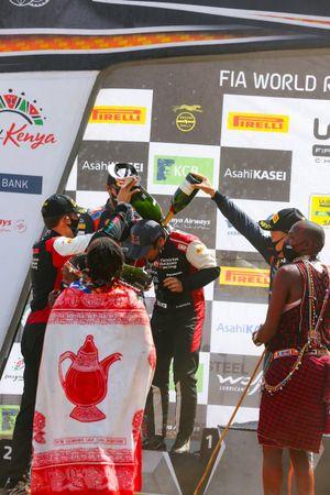 Podium: Sébastien Ogier, Julien Ingrassia, Toyota Gazoo Racing WRT Toyota Yaris WRC, Takamoto Katsuta, Daniel Barritt, Toyota Gazoo Racing WRT Toyota Yaris WRC