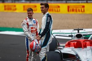 Mick Schumacher, Haas F1, en George Russell, Williams