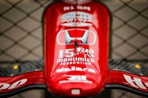Detalle del alerón del coche de Santino Ferrucci, Rahal Letterman Lanigan Racing Honda