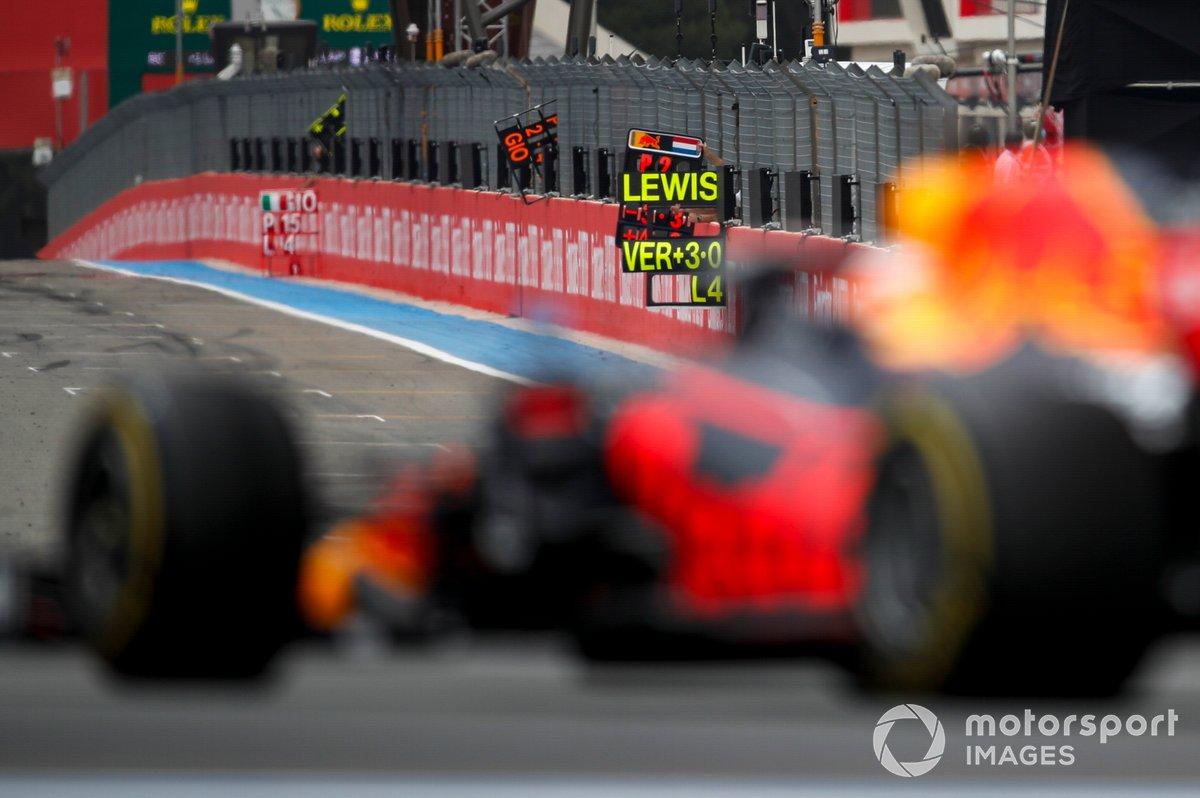 Pit board de Max Verstappen, Red Bull Racing RB16B