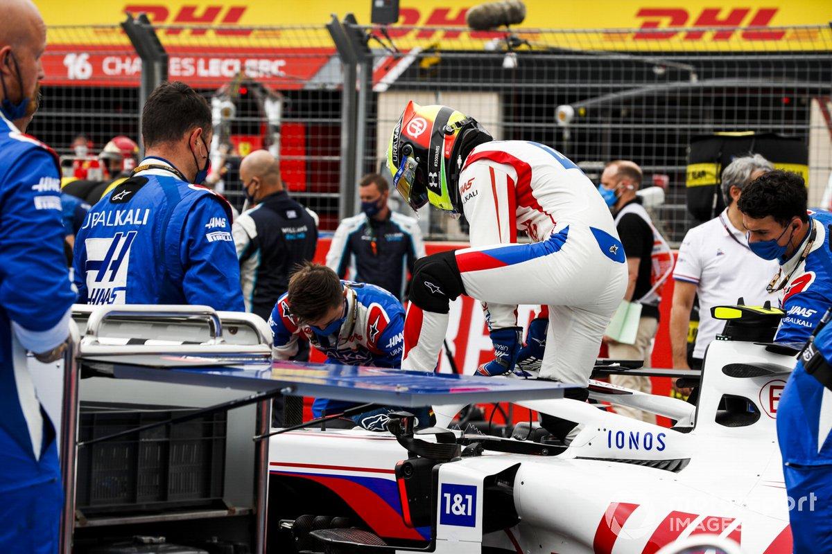 Mick Schumacher, Haas F1 sulla griglia di partenza