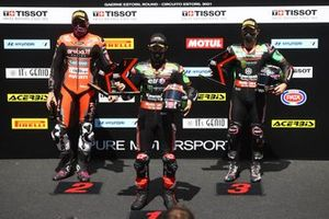 Top 3 dopo la Superpole: Scott Redding, Aruba.It Racing - Ducati, Jonathan Rea, Kawasaki Racing Team WorldSBK, Alex Lowes, Kawasaki Racing Team WorldSBK