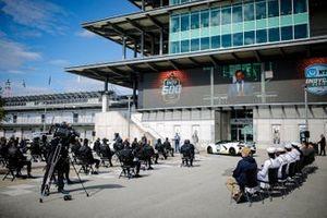 Fahrerbesprechung am Indianapolis Motor Speedway