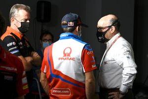 Johann Zarco, Pramac Racing, Hervé Poncharal, KTM Tech3, Carmelo Ezpeleta, CEO Dorna Sports