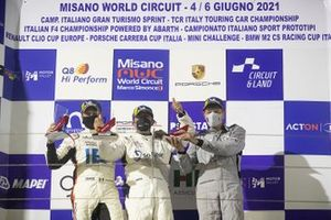 Podio: Massimiliano Montagnese, Team Malucelli, Davide Scannicchio, ZRS Motorsport, Marco Parisini, Team Malucelli