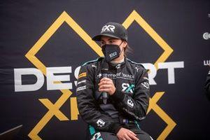 Molly Taylor, Rosberg X Racing, en la rueda de prensa