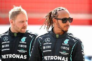 Valtteri Bottas, Mercedes W12 and Lewis Hamilton, Mercedes W12
