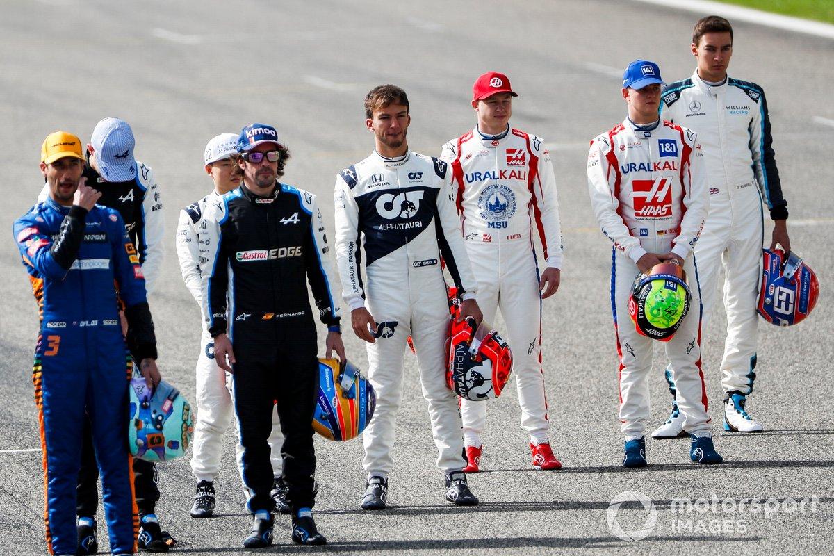 Nikita Mazepin, Haas F1 and Mick Schumacher, Haas F1