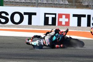 Fabio Quartararo, Petronas Yamaha SRT crash