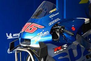 Detail van de motor van Team Suzuki MotoGP