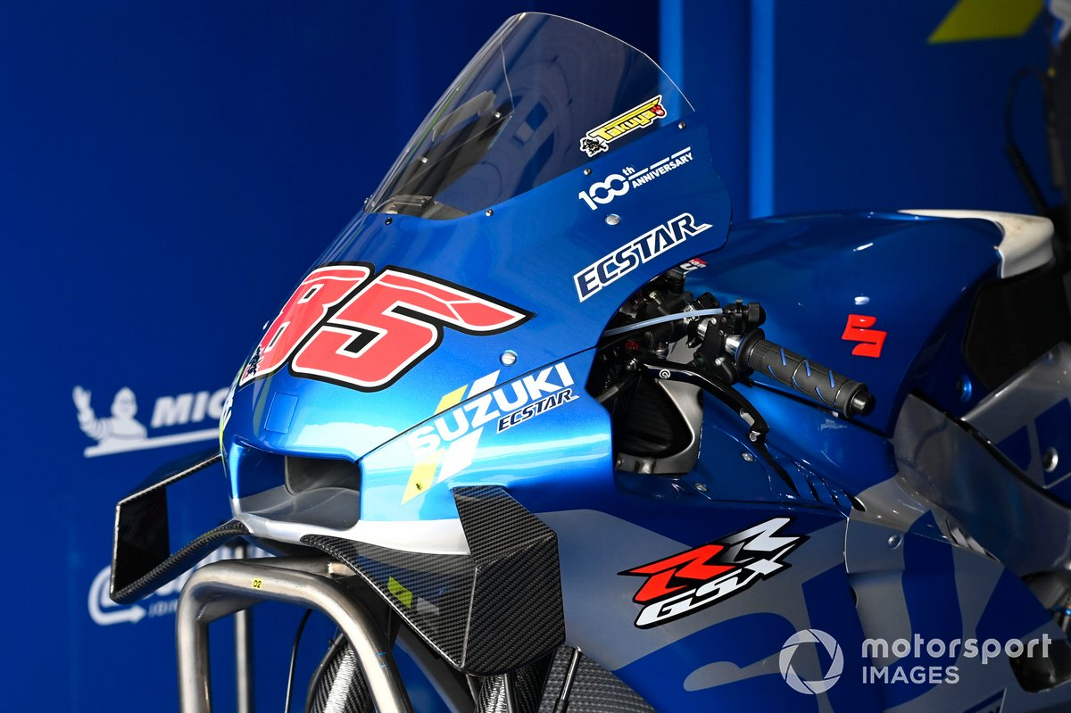 Detalle de la moto de Team Suzuki MotoGP