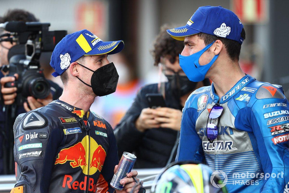 Ganador de la carrera Joan Mir, el equipo Suzuki MotoGP, el tercer lugar Pol Espargaró, Red Bull KTM Factory Racing