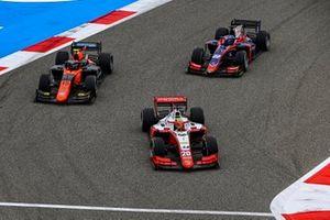 Mick Schumacher, Prema Racing Felipe Drugovich, MP Motorsport en Roy Nissany, Trident