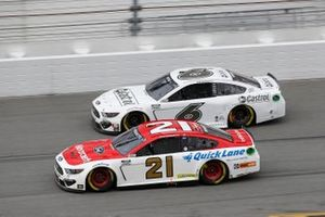 Matt DiBenedetto, Wood Brothers Racing, Ford Mustang Motorcraft/Quick Lane, Ryan Newman, Roush Fenway Racing, Ford Mustang