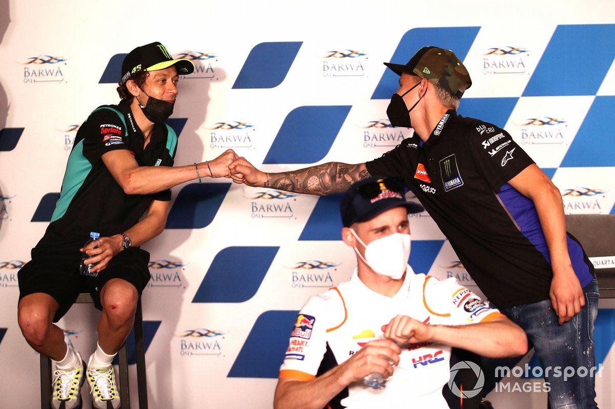 Valentino Rossi, Petronas Yamaha SRT, Fabio Quartararo, Yamaha Factory Racing