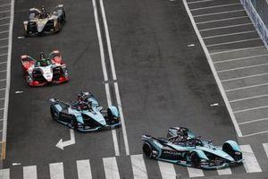 Sam Bird, Jaguar Racing, Jaguar I-Type 5, Mitch Evans, Jaguar Racing, Jaguar I-Type 5, Lucas Di Grassi, Audi Sport ABT Schaeffler, Audi e-tron FE07