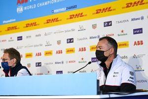 Sylvain Filippi, Managing Director, Envision Virgin Racing, Amiel Lindesay, Team Principal, Tag Heuer Porsche , in the Press Conference