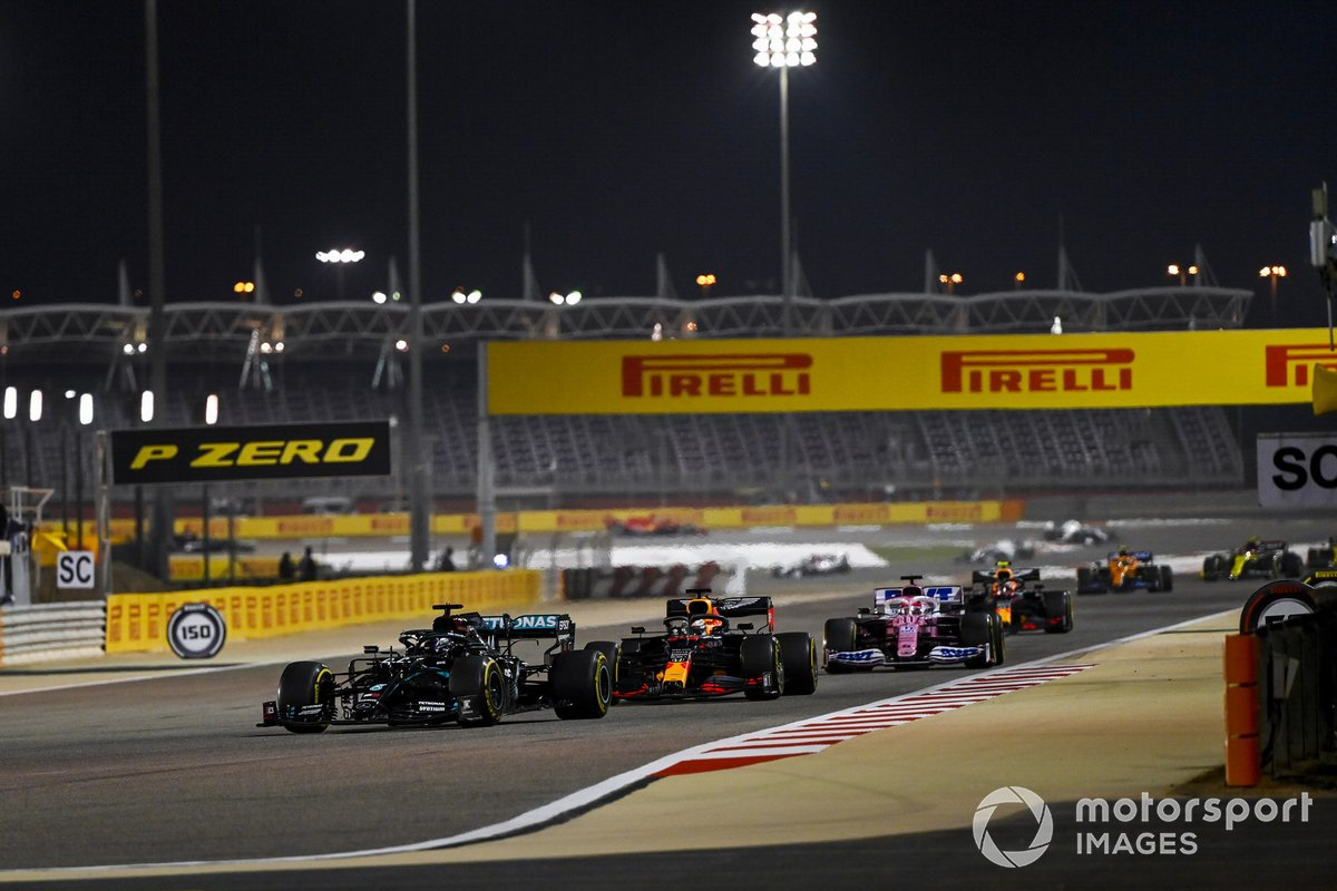 Lewis Hamilton, Mercedes F1 W11, Max Verstappen, Red Bull Racing RB16, Sergio Pérez, Racing Point RP20