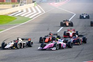 Marcus Armstrong, ART Grand Prix, Theo Pourchaire, BWT HWA Racelab, Giuliano Alesi, MP Motorsport and Roy Nissany, Trident