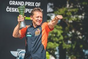 Mike Leitner, Red Bull KTM Factory Racing sur le podium