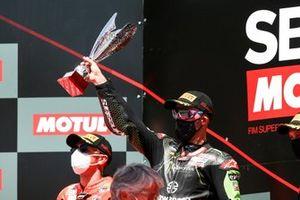 1. Jonathan Rea, Kawasaki Racing Team, 2. Scott Redding, Aruba.it Racing Ducati