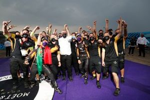 Antonio Felix da Costa, DS Techeetah celebrates with his team after winning the driver championship