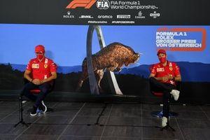 Charles Leclerc, Ferrari and Sebastian Vettel, Ferrari