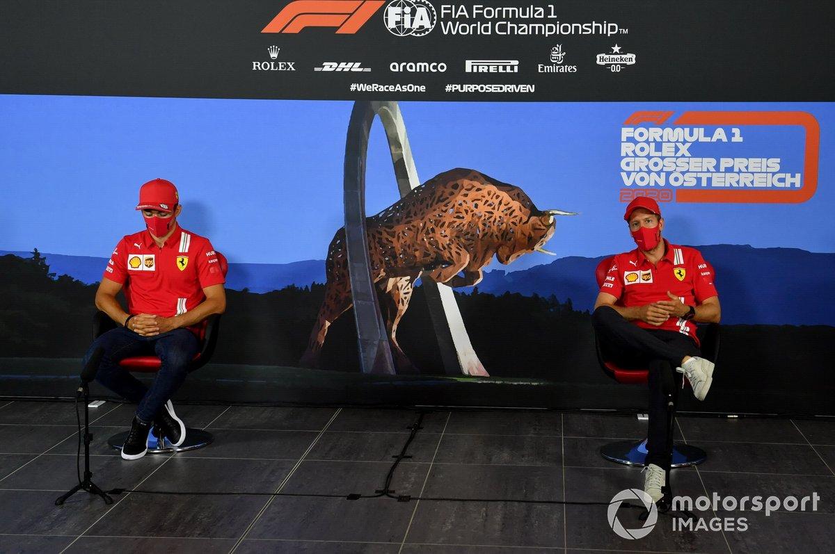 Charles Leclerc, Ferrari e Sebastian Vettel, Ferrari