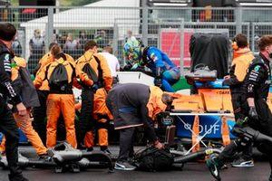 Ландо Норрис, McLaren MCL35, на стартовой решетке
