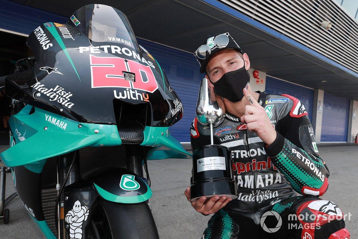 Ganador de la carrera Fabio Quartararo, Petronas Yamaha SRT