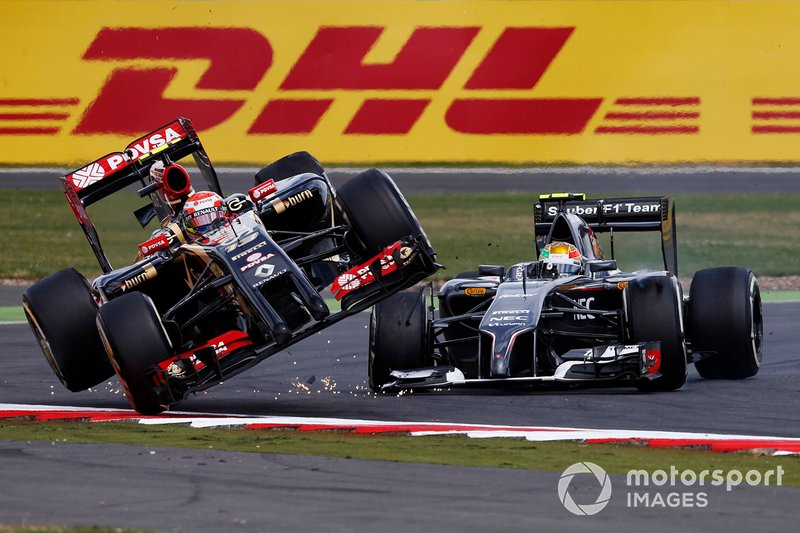 Großbritannien 2014: Maldonado und Gutierrez crashen