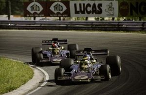 Ronnie Peterson, Lotus 72D, Emerson Fittipaldi, Lotus 72D