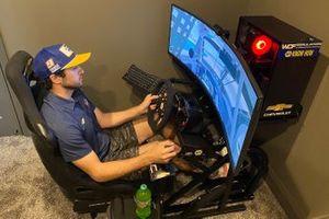 Чейз Эллиотт, Hendrick Motorsports, испытывает гоночный симулятор