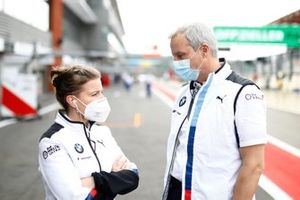 Jens Marquardt, BMW Motorsport Director with Daniela Tadday, BMW Motorsport Press