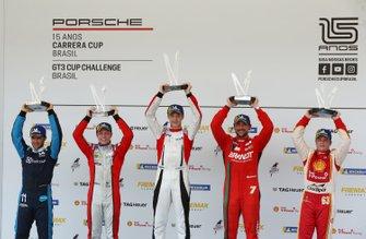 Pódio da corrida 2 - Carrera Cup - Porsche