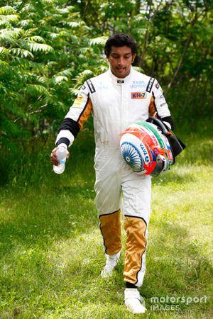 Narain Karthekeyan, HRT, walks back