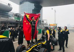 Guanyu Zhou, Renault Sport Academy, demonstrated F1 car as part of F1 1000th GP celebration