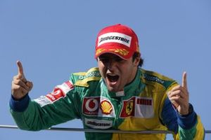 Podium: race winner Felipe Massa, Ferrari