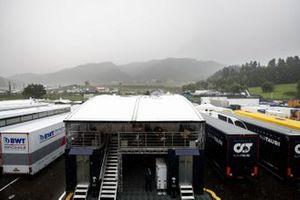 Hevige regenval op de Red Bull Ring