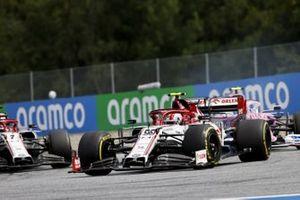 Антонио Джовинацци, Alfa Romeo Racing C39, Лэнс Стролл, Racing Point RP20, Кими Райкконен, Alfa Romeo Racing C39