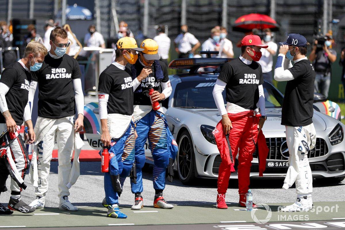 Kevin Magnussen, Haas F1, Daniil Kvyat, AlphaTauri, Lando Norris, McLaren, Carlos Sainz Jr., McLaren, Charles Leclerc, Ferrari, Pierre Gasly, AlphaTauri