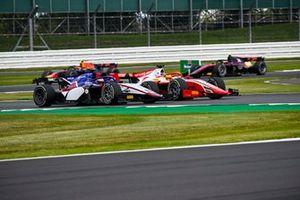 Mick Schumacher, Prema Racing, battles with Louis Deletraz, Charouz Racing System