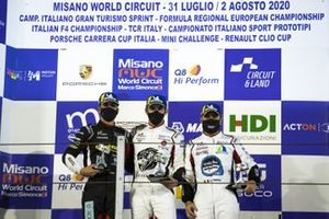 Podio: Gianmarco Quaresmini, Tsunami RT, Stefano Monaco, Dinamic Motorsport e Simone Iaquinta, Ghinzani Arco Motorsport