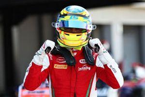 Pole sitter Logan Sargeant, PREMA Racing