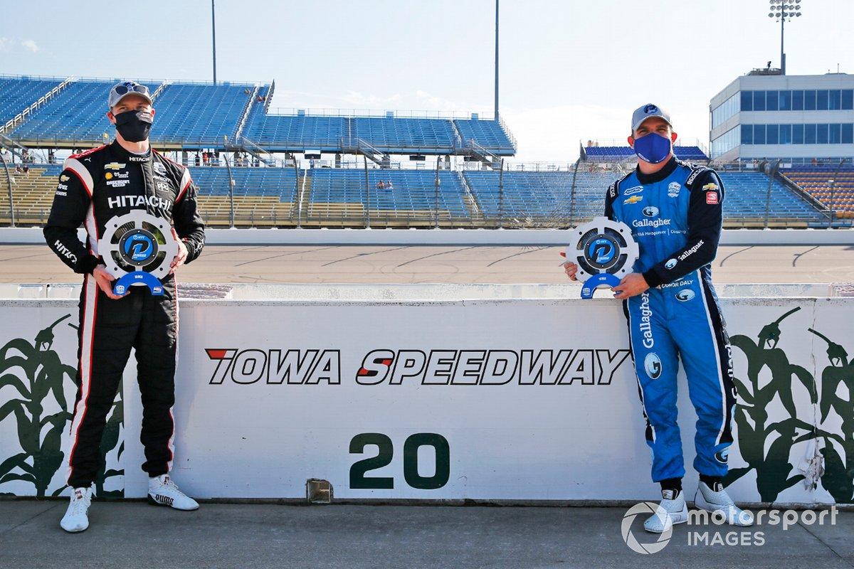 Josef Newgarden, Team Penske Chevrolet e Conor Daly, Carlin Chevrolet