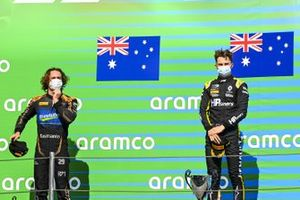 Alexander Peroni, Campos Racing And Race Winner Oscar Piastri, Prema Racing on the podium