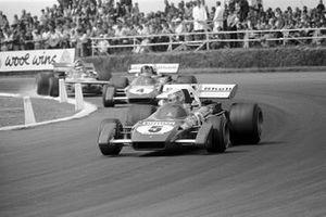 Clay Regazzoni, Ferrari 312B2, Jacky Ickx, Ferrari 312B2, Ronnie Peterson, March 711 Ford, GP di Gran Bretagna del 1971