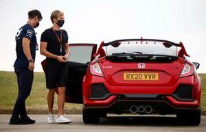 Pierre Gasly, AlphaTauri en su Honda Civic Type R